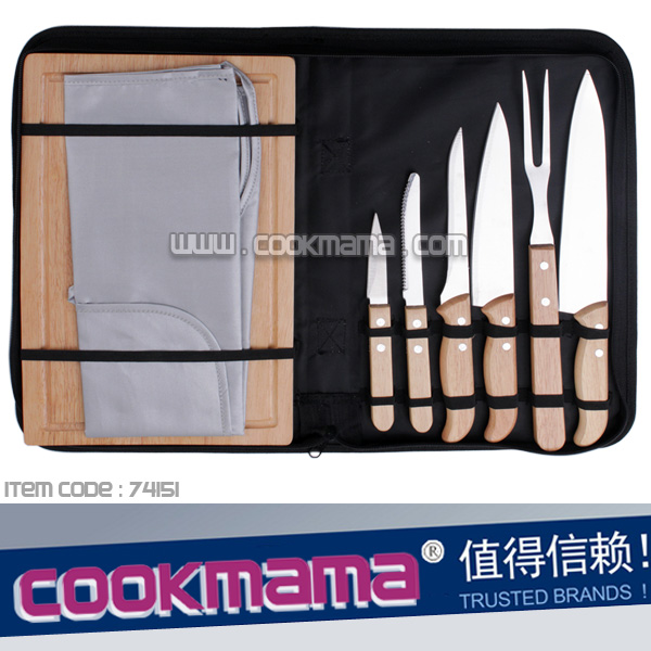8pcs bbq knife set