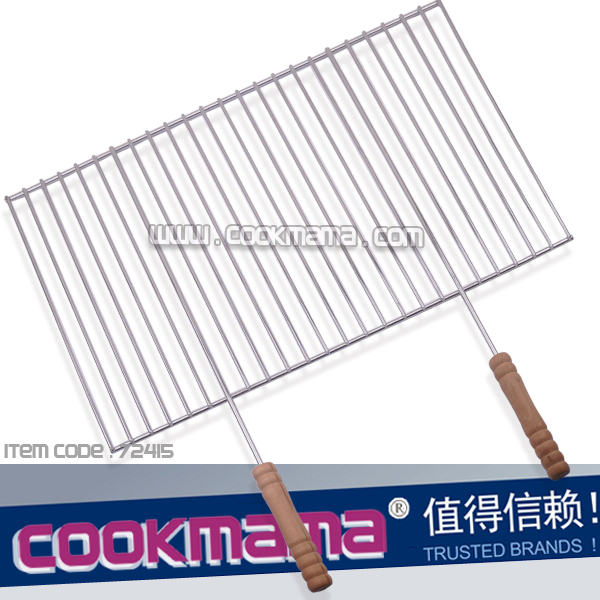 oversize XL grilling basket WITH wood handle